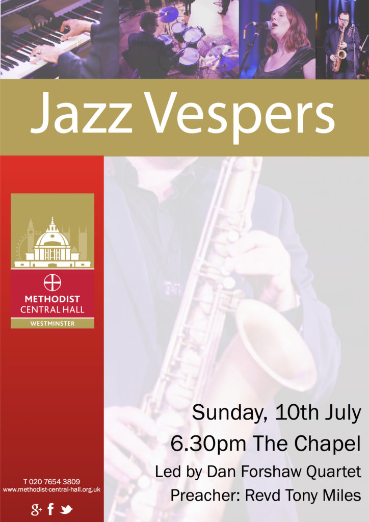 Jazz Vespers - Methodist Central Hall, Westminster