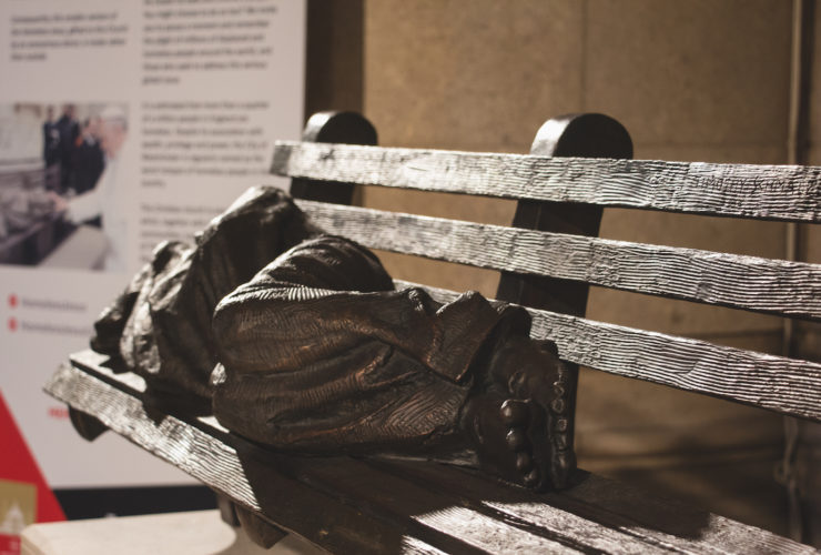Homeless Jesus unveiled at Methodist Central Hall