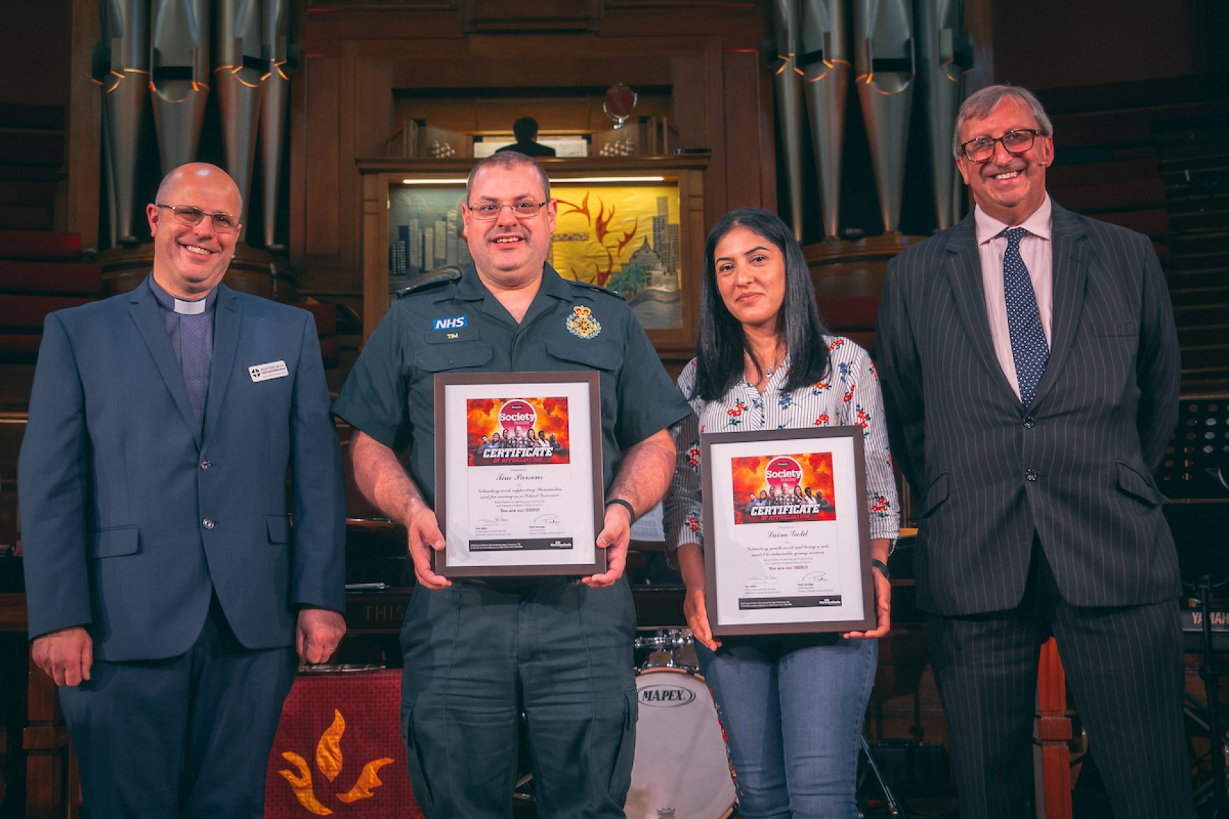 LOCAL HEROES HONOURED AT SOCIETY SUNDAY SERVICE