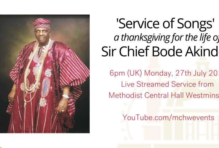 A Service of Thanksgiving for the life the life of Sir Chief Bode Akindele.